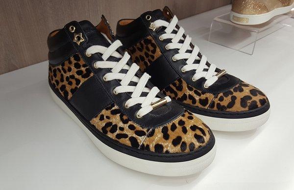 Jimmy Choo leopard print ladies sneakers, Flannels, Swindon
